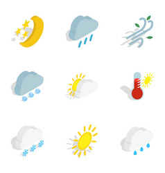 Forecast icons isometric 3d style vector