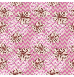 seamless retro background with flowers vector image vector image