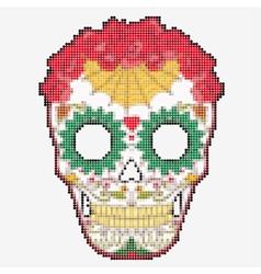 Sugar Skull Day of The Dead colorful Skull vector image