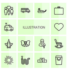 14 icons vector