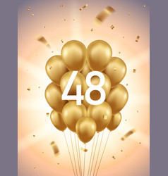48th year anniversary background vector