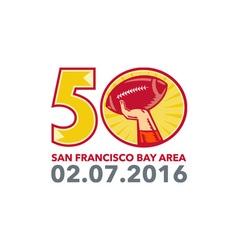 50 Pro Football Championship Sunday 2016 vector image