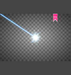 abstract blue laser beam isolated on transparent vector image