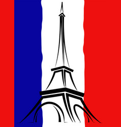 Abstract logo or sign for france paris and eiffel vector