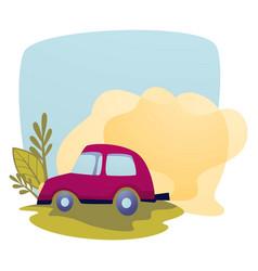 Air pollution car exhaust contamination vector