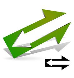 arrow in arrow symbol included vector image
