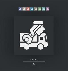Assistance van icon vector
