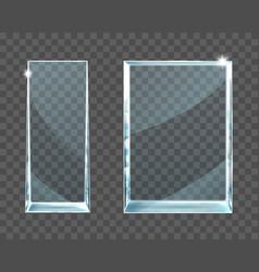 award glass trophy on transparent background vector image
