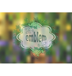 Banner with bunches of grape and background vector image