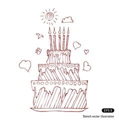 Birthday pie vector image