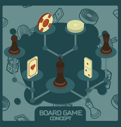 Board game color concept vector