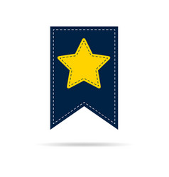 Bookmark icon with yellow star vector