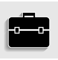 Briefcase sign Sticker style icon vector image