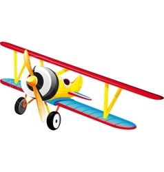 bright retro biplane vector image