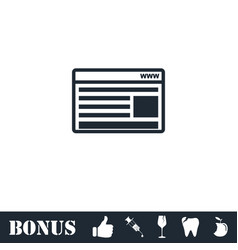 Browser icon flat vector