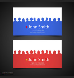 Business card with people silhouette vector