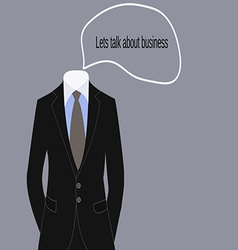 Business suit of businessman dress code vector