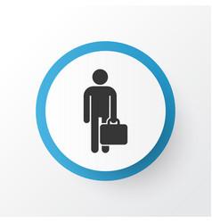 Businessman icon symbol premium quality isolated vector