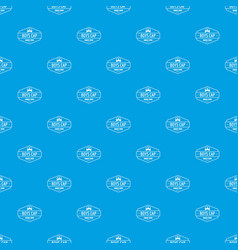 Cap pattern seamless blue vector