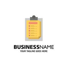 card presentation report file business logo vector image