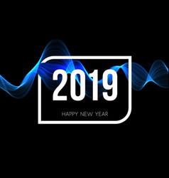 celebration poster of 2019 year happy new year vector image