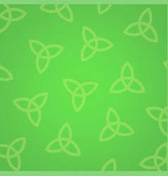 celtic knots on green background vector image