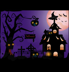 cemetery a holiday in october halloween vector image