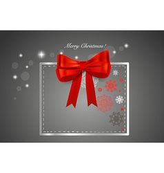Christmas background with gift box and snowflakes vector image