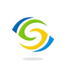 Circle vision abstract logo vector
