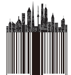 city bar code vector image