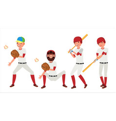 Classic baseball player classic uniform vector