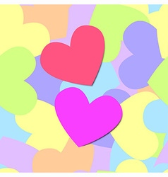 colorful pattern heart vector image