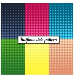 Colour set of halftone retro background vector image