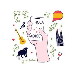 Concept spanish language course vector