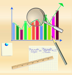 conceptual drawing of business analysis vector image
