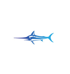 creative abstract marlin fish logo vector image
