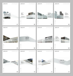 Creative brochure templates with architecture vector