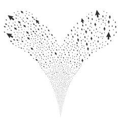 Cursor arrow fountain stream vector
