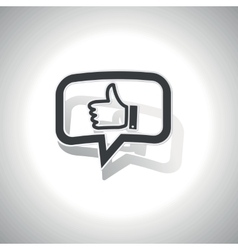 Curved like message icon vector