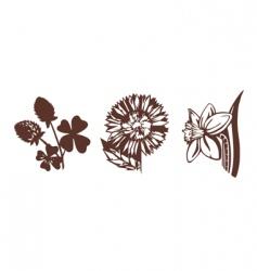 cute flowers vector image