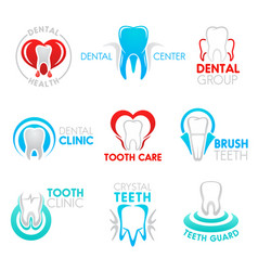 dental clinic and dentistry symbol with tooth vector image