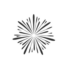 Fireworks display celebration icon in black flat vector