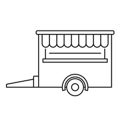 Food trailer icon outline style vector