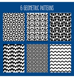 Geometric Background Abstract Seamless Pattern Set vector