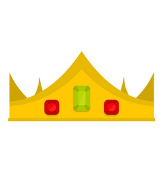 Gold royal crown icon isolated vector