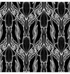 Graphic squid pattern vector