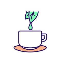 Green tea rgb color icon vector