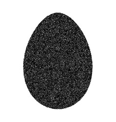 grunge egg isolated vector image