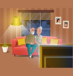 Happy people on retirement cartoon concept vector