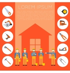 Home improvement banner1 vector image